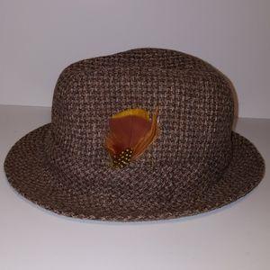 Vintage like new STETSON tweed fedora hat Bruno